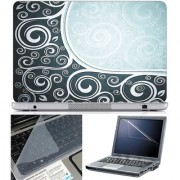 Finearts Laptop Skin Abstract Series 1016 With Screen Guard And Key Protector - Size 15.6 Inch