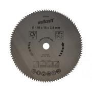 Disc fierastrau circular Wolfcraft Ø190x2,4x16 mm 100 dinti