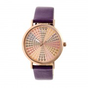 Crayo Fortune Strap Watch - Rose Gold/Plum CRACR4306