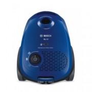 Прахосмукачка Bosch BGL2UA112, с торба, 600 W, 3.5 л. капацитет на торбата, енергиен клас A, PowerProtect технология, синя