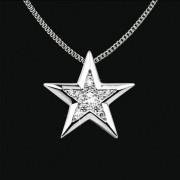Ashanger Ster in zilver met zirkonia inclusief collier