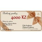 Dárkový poukaz 4000 Kč