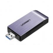 Четец за карти памет Ugreen USB 3.0 SD / micro SD сив (50541)