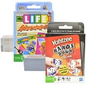 Travel Games Value Pack - The Game of Life Adventures and Yahtzee Hands Down, Card Games