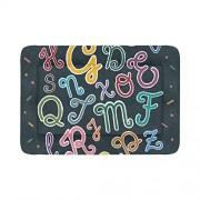 CKDDG Cama para Mascotas Letras del Alfabeto Impresión Colorida Camas para Perros y Gatos Ideal para Cajas de Perros Lavado a máquina Súper Felpa
