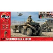 Kit automodele Airfix 4701 Quad British Quad Bikes and Crew Scara 1 48