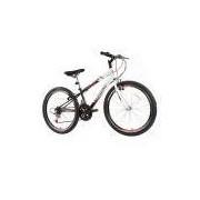 Bicicleta Track Bikes Aro 24 - 18 Marchas Axess Juvenil Preta e Branca