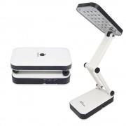 Luminária De Mesa Articulada 24 Leds Recarregável Abajur DPLED-5S LED-666