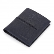 Portofel negru Daniel Klein pentru barbati, din piele naturala, DKW.1030.02