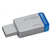 Kingston Pen Drive Kingston 64GB DataTraveler 50 (Metal/Blue) USB 3.0 -DT50