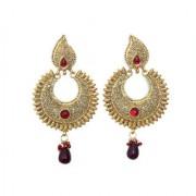 Indian Style Beaded Dangle Drop Fashionable Earrings Traditional Jhumka Jhumki Earrings for Women 21 MAROON