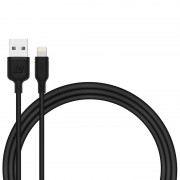 MOMAX MFI Certified 2.4A Lightning 8Pin Charging Data Cable for iPhone iPad iPod (1m) - Black