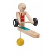 Plan Toys Zabawka edukacyjna Plan Toys Drewniany akrobata - podnoszenie ciężarów