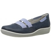 Clarks Women's CloudSteppers Sillian Rest Mary Jane Flat, Navy, 7. 5 M US