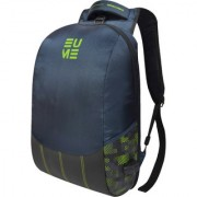 Eume Wave Massager 26 Ltr Laptop Backpack For 15.6 inch Laptop and Nylon Water Resistance Backpack With 2 USB Charging Port- Navy Blue and Pear Green