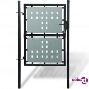 vidaXL Crna Vrata za Ogradu 100 x 175 cm
