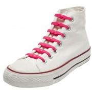 Shoeps 14x Shoeps elastische veters roze voor kinderen/volwassenen