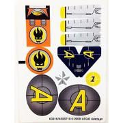 """Lego Original Sticker Sheet for Agents Set #8631 """"Mission 1: Jetpack Pursuit"""""""