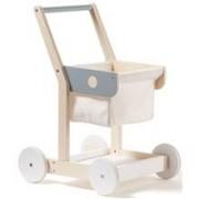 Kids Concept Kundvagn vit/natur