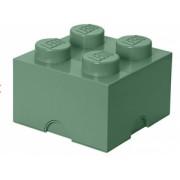 Pojemnik klocek LEGO® z 4 wypustkami (Sand Green)