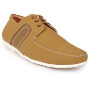 Action Men'S Tan Lace-Up Casual Shoes