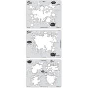 Artool Freehand Airbrush Templates, Splatter Template Set