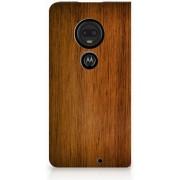 Motorola Moto G7 G7 Plus Uniek Standcase Hoesje Donker Hout