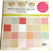 My Mind's Eye Alphabet Soup Girl 12x12 Paper Pad 48 Sheets