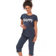 Happy Mommy kismama pizsama, szoptatáshoz, kék