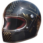 Premier Trophy Carbon NX Gold Chromed Casco Carbono/Bronce M