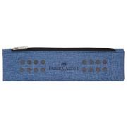 Etui Instrumente De Scris Grip Melange Albastru Faber-Castell