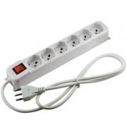 Multipresa elettrica 6 posti con interruttore - Mod. A