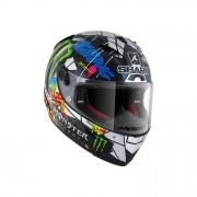 SHARK Helmet Casco Integrale in carbonio Race-R Pc Lorenzo Catal.Gp Carbonio-Cromo-Verde taglia XS