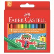 Creioane colorate, cerate, 12 culori/set, FABER-CASTELL
