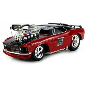 Super 5 Ford Mustang Boss 429 Remote Control RC Muscle Car 1:16 Scale Ready to Run RTR w/ Working Head & Tail Lights (Colors May Vary) by Velocity Toys