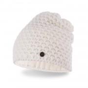 Zimowa czapka damska PaMaMi - Ecru