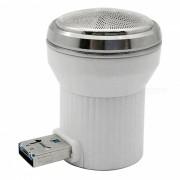 mini maquinilla de afeitar electrica creativa de carga de la barba del USB que carga - blanco