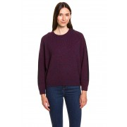Lacoste Pullover, Wolle, Rundhals, Regular Fit lila