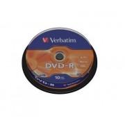 DVD-R 16X 4.7GB AZO MATT SPINDLE 10