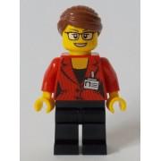 cty1045 Minifigurina LEGO City-Reporter fata cty1045