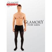 Heltäckande plus size strumpbyxa för män i microfiber Microman från Glamory black 2XL