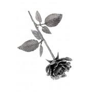 Asbeeldje Een Roos In Bloei, Zilver (0.005 liter)