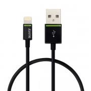 Cablu de date Leitz Complete Lightning - USB, 30 cm, negru