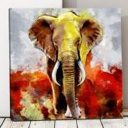 Tablou Canvas Elefant Artistic ASJ16 (Optiuni Tablou: 140x140cm)