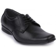 Metrogue Genuine Leather with Leather Lining Dress Shoes Lace Up For Men(Black, Black)
