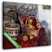 Paul Cézanne: Csendélet levesestállal (30x25 cm, Vászonkép )