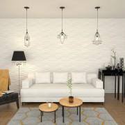 vidaXL 12 бр стенни панели 3D 0,8x0,625 м 6 м²