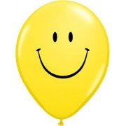 "Qualatex ""Smile Face Standard Yellow Latex Round 11in/27.5cm"""