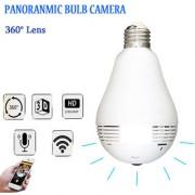 Tecbasket LED Light WiFi IP Camera Bulb Fish Eye B2-R 960P/2MP 360 Degree CCTV 3D VR Home Security WiFi