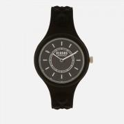 Versus Versace Men's Fire Island Bicolor Silicone Watch - Black/White
